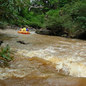 Class 1 whitewater rafting rapids example
